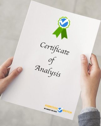 Certificate of analysis on the spot